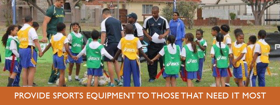 Provide sports equipment to those that need it most